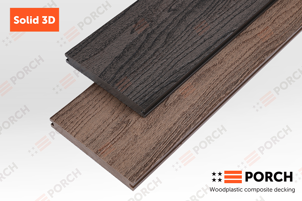 Террасная доска Porch Solid 3D 18x140x2200