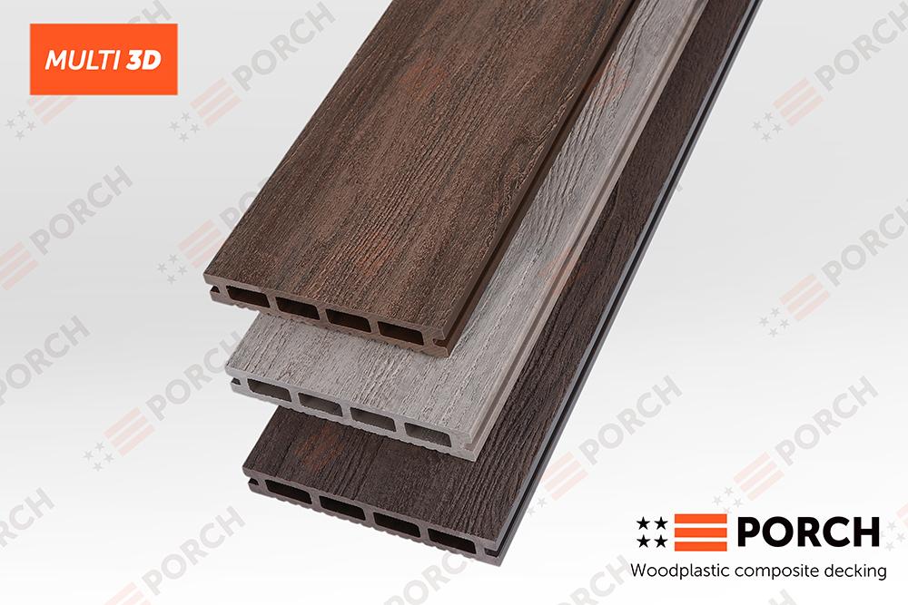 Террасная доска Porch Multi 3D  23x146x2200